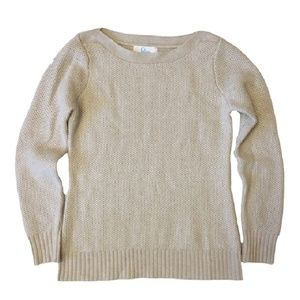 ELORIE cashmere metallic shimmer sweater M